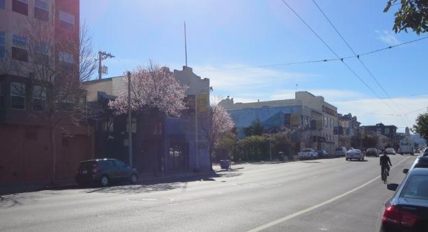 Howard Street, San Francisco, spring in January